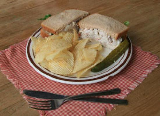 My Just Desserts: 1/2 Pound Chicken Salad Sandwich