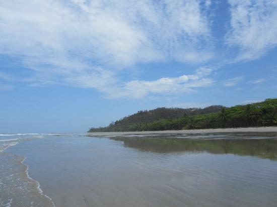 the beach outside Villas Hermosas