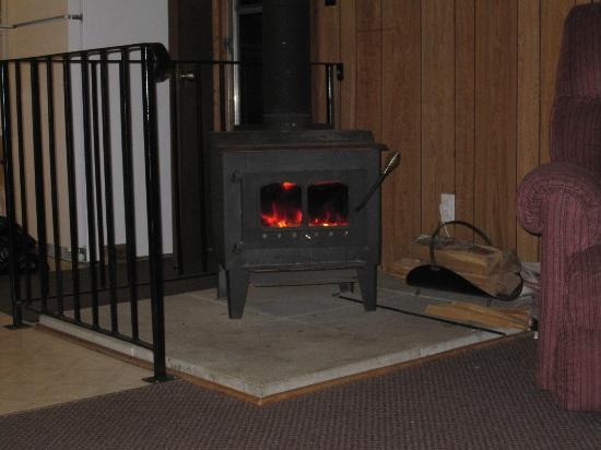 The Pines on Boshkung: the wood stove that helped keep us cozy and warm