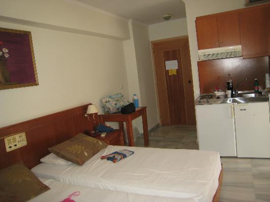 Jo-An Palace Hotel: Entrata della camera con cucinino