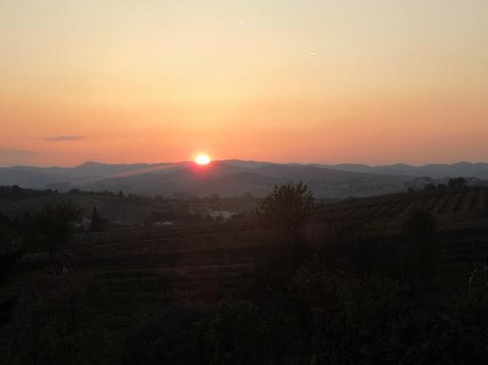 Limoux, France: Sunset view from the swimming pool