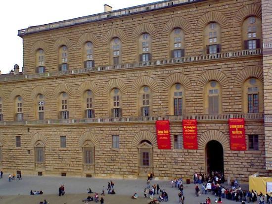 Soggiorno Pitti: Ingresso palazzo pitti visto dalla camera