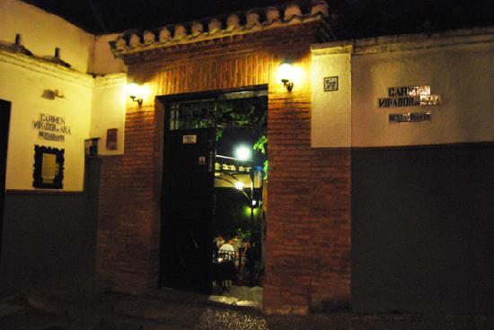 Carmen Mirador de Aixa : Entrada al Restaurante