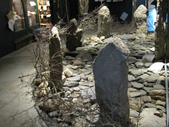 Boscastle, UK: All the exhibitions were interesting - this stone circle was done with mirrors.