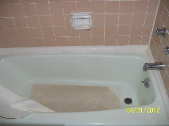 Travelodge Williamsburg Central: Random mold around tub,