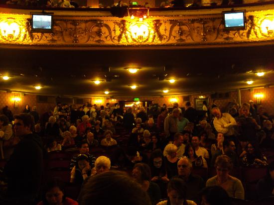Les Miserables London: View to the theatre from Row A