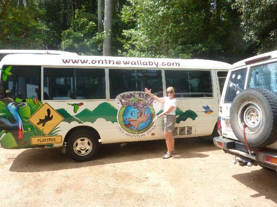 Atherton Tableland : Our colorful tour bus