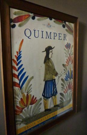 Quimper Inn: Lovely art print from Quimper, France in the hallway.