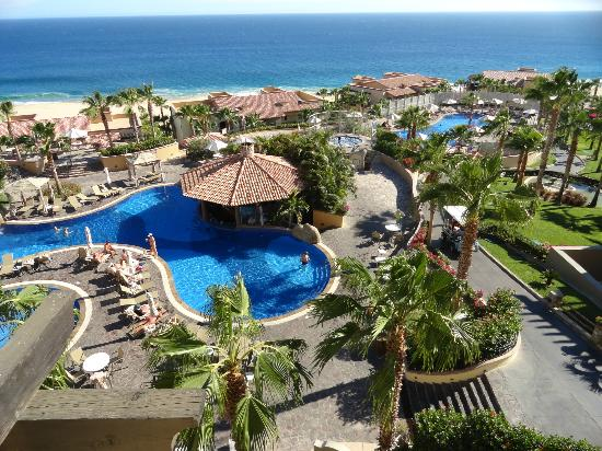 Pueblo Bonito Sunset Beach Golf & Spa Resort: View from Resort Balcony, Building 17, 4th Floor corner unit
