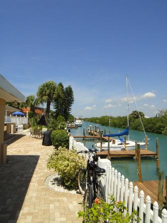 A Beach Retreat on Casey Key: View of the canal from outside the room