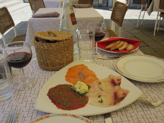 Il Refolo: delicious fish carpaccio
