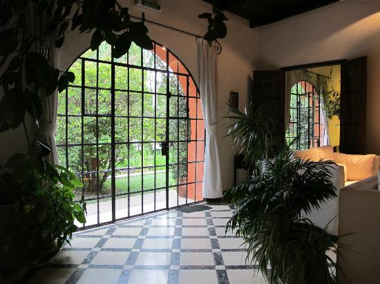 Finca Adalgisa Hotel Vineyard & Winery: View out from living room
