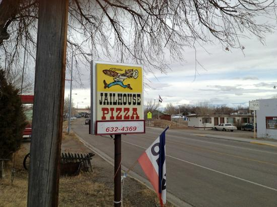 Jail House Pizza: Sign in front