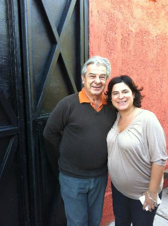 Bodega Familia Antonietti: Andres and Betiana (and little Pedro to be born in three weeks)