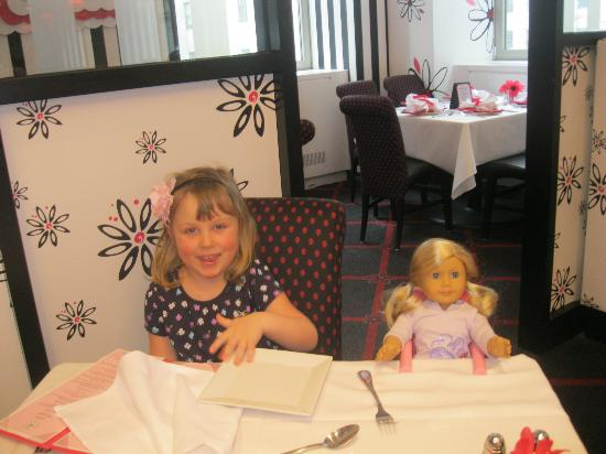 American Girl Place - New York: Granddaughter and her new American Girl doll having lunch