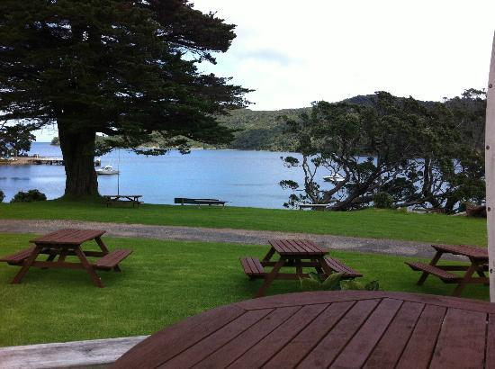 Great Barrier Lodge: View from the restaurant deck