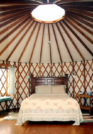 Joyful Journey Hot Springs Spa and Conference Center: YURT SINGLE QUEEN BEDROOM