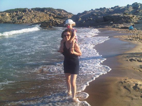 Chia Laguna - Hotel Village: Me and my daughter on the beach at sunset - we had wonderful walks