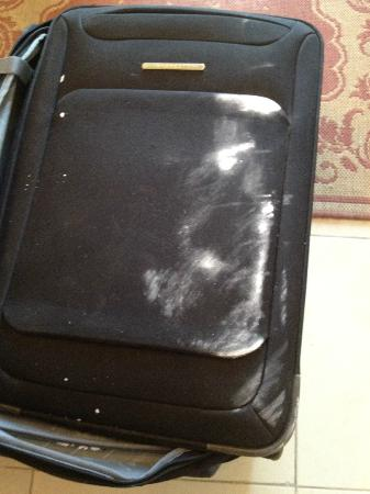 New Sphinx Hotel: my suitcase after it was delivered to the room