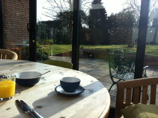Sylvan Cottage: View from dining room during breakfast