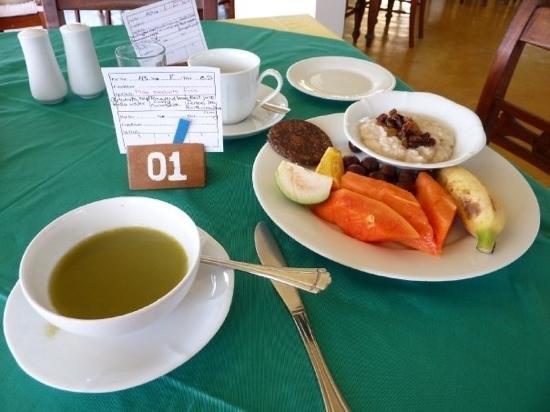 Barberyn Beach Ayurveda Resort : Bsp. eines Frühstücks