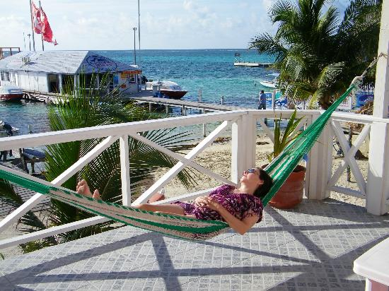 Hammock on the balcony of Conch Shell Inn