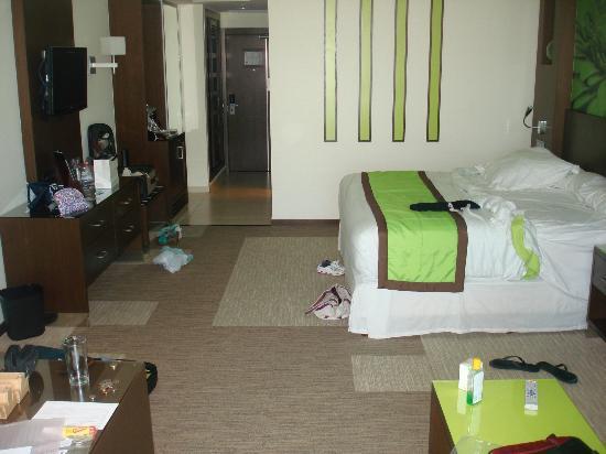 Hotel Riu Plaza Panama: La habitación, muy cómoda, en el piso 28!