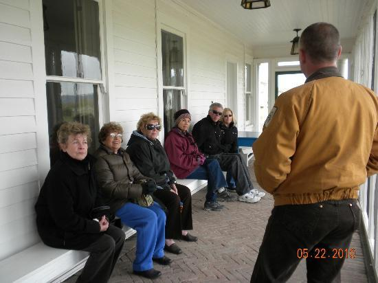 Dangberg Home Ranch Historic Park: A group starting a tour of the main house.