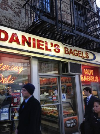 Daniel's Bagels: This is the store front view