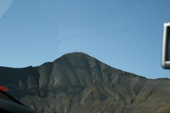 Col de la Bonette, seen from aproaching road