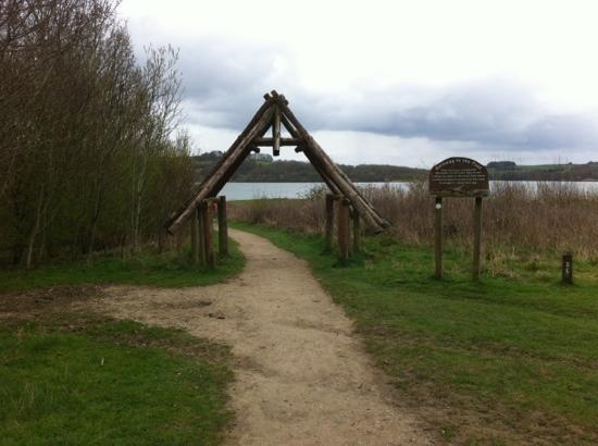 Carsington Water : entrance to Stone Island