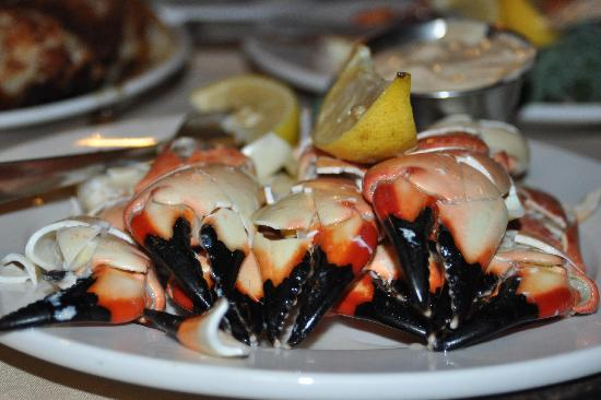 Billy's Stone Crab: Florida Stone Crabs are served chilled with Billy's Mustard Sauce