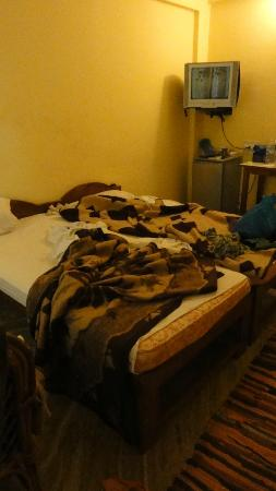 Seaview Resort: Our room (not always this messy, but the only picture)