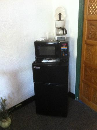 The Hacienda: Coffee maker, microwave, frig/freezer