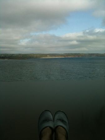 Ardmore, Ireland: view from the relaxation room in the Spa