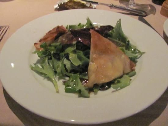 Le galvacher : Starter - salad with goat cheese