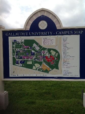 Kellogg Conference Hotel at Gallaudet University: Campus map,see how its set up.