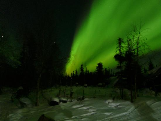Eagle, AK: northern lights from Last Chance Creek