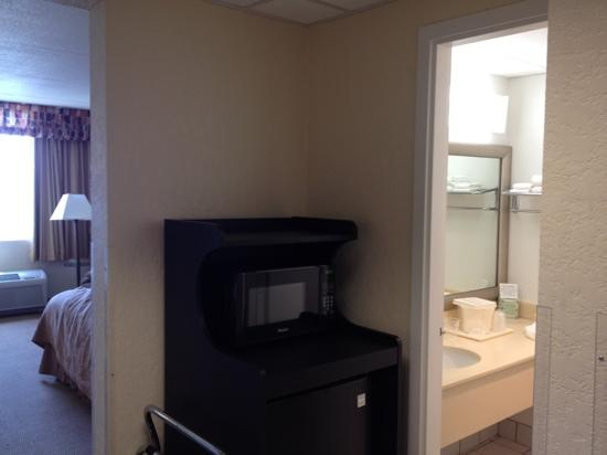 Quality Inn & Suites Event Center: microwave and refrigerator