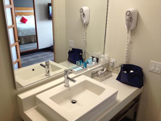 Novotel Toronto Vaughan Centre: kamer 604 badkamer