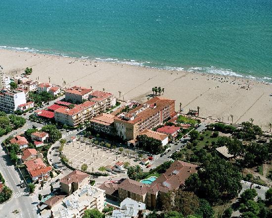 Coma Ruga, Espanha: Vista aérea Gran Hotel Europe