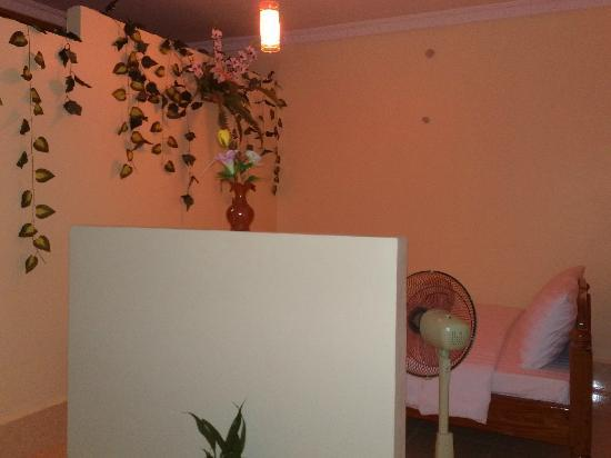 Battambang My Homestay: This is a  simple room with fan but romantic and attractive I stayed