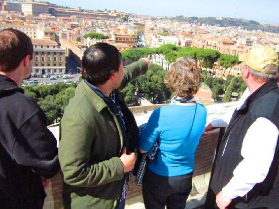 LivItaly Tours: Enjoy some amazing views of Rome, like this one from the top of Castel Sant'Angelo