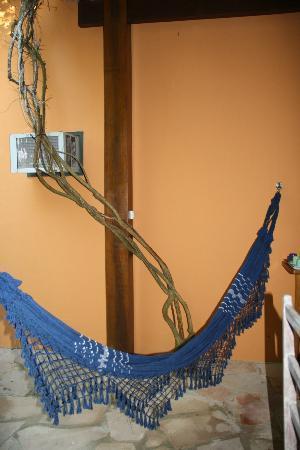 Recanto Rosa Amarela: veranda con amaca dell'appartamento n.10