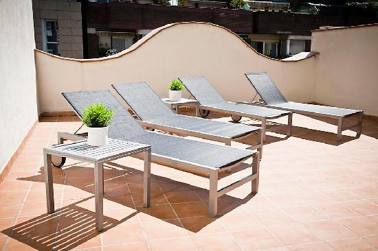 Up Suites Bcn: Terraza Up Suites