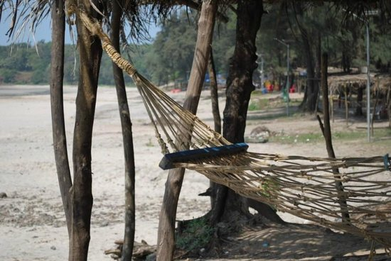 Kashid, India: View from hammock