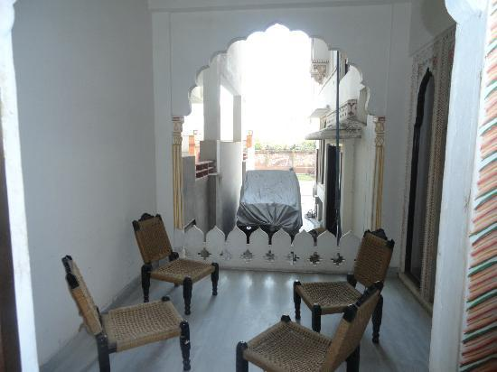 Tordi Haveli: Not much of a view but nice to sit out there nonetheless.