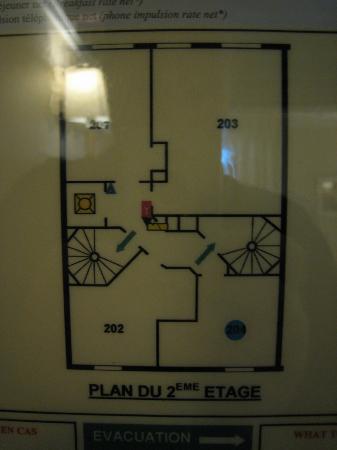 Best Western Hotel Folkestone Opera: Plan du 2e étage
