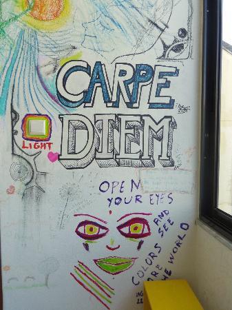 Braga POP Hostel: A funny Wall