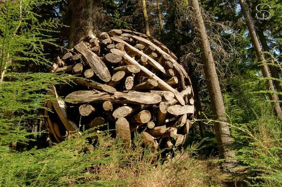Ashford, Ιρλανδία: Sculpture in the woods